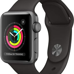 AppleWatch Series3 (GPS, 38mm) - Space Gray Aluminum Case with Black Sport Band   Amazon (US)