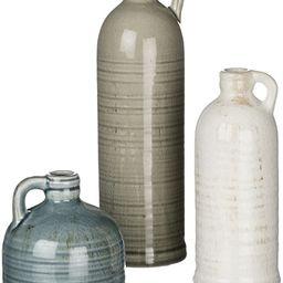 Sullivans Small Ceramic Jug Set, Farmhouse Home Decor, Set of 3 Vases, Multi-Color (CM2431) | Amazon (US)