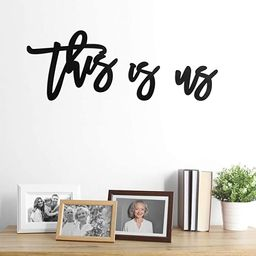 Zonon 3 Pieces This is Us Sign, Wooden This is Us Wall Decor, Rustic Wood Cutout Farmhouse Decor ... | Amazon (US)