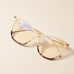 Camilla Blue Light Glasses By I-SEA in Beige   Anthropologie (US)