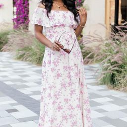 One Dance Floral Maxi Ivory Dress | The Pink Lily Boutique