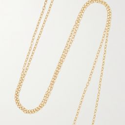 Gold Gold, enamel and mother-of-pearl necklace | STONE AND STRAND | NET-A-PORTER | Net-a-Porter (US)
