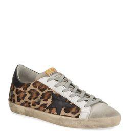 Golden Goose Superstar Leopard Calf Hair Sneakers | Neiman Marcus