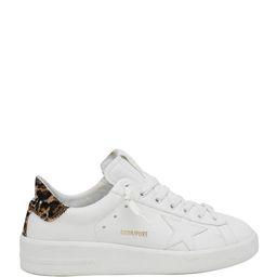Golden Goose Pure Star Classic Leopard-Print Sneakers   Neiman Marcus