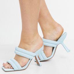 ASOS DESIGN Nadalie padded heeled mules in blue   ASOS (Global)