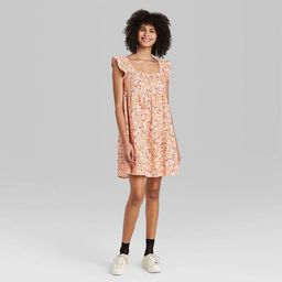 Target/Women/Women's Clothing/DressesWomen's Ruffle Sleeve On/Off the Shoulder Woven Babydoll ... | Target