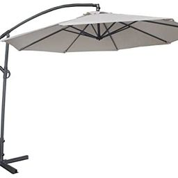 Abba Patio 10-Feet Offset Cantilever Umbrella Outdoor Hanging Patio Umbrella, Ivory   Amazon (US)