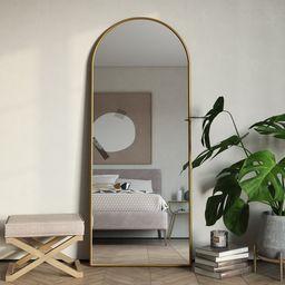 "Nadia Modern Arch 70""x28"" Floor Mirror | Walmart (US)"
