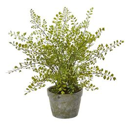 Nearly Natural Maiden Hair Artificial Plant in Decorative Planter | Walmart (US)