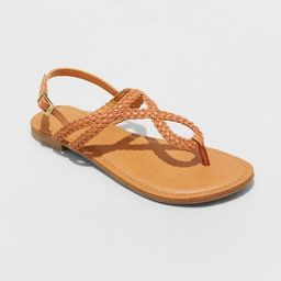 Women's Anabel Braided Thong Ankle Strap Sandals - Universal Thread™ | Target