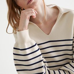 Relaxed Collared Sailor Stripe Sweater | & Other Stories