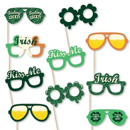 Big Dot of Happiness St. Patrick's Day Glasses - Paper Card Stock Saint Patty's Day Party Photo B... | Target