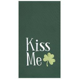 C&F Home Green Kiss Me Clover St. Patrick's Embroidered and Tufted Cotton Waffle Weave Kitchen To... | Target