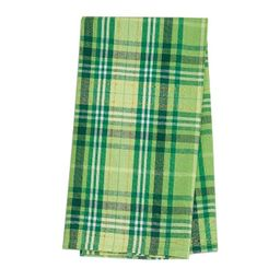 C&F Home Green Conner Plaid St. Patrick's Woven Cotton Kitchen Towel | Target