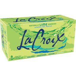 LaCroix Sparkling Water Lime - 8pk/12 fl oz Cans | Target