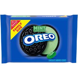 Oreo Mint Flavor Creme Chocolate Sandwich Cookies Family Size - 20oz | Target