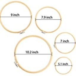 Similane 5 Pieces Embroidery Hoops Bamboo Circle Cross Stitch Hoop Ring 5 inch to 10 inch for Emb... | Amazon (US)