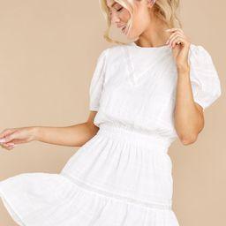 Untangle My Heart White Dress | Red Dress