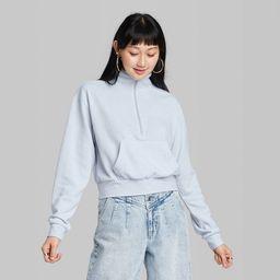 Women's Quarter Zip Sweatshirt - Wild Fable™ | Target