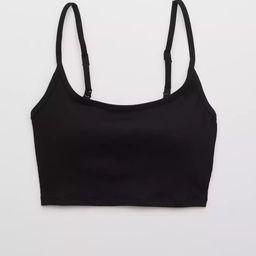 Aerie Ribbed Longline Scoop Bikini Top | American Eagle Outfitters (US & CA)