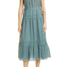 Frill Sleeve Cotton Eyelet Dress | Nordstrom