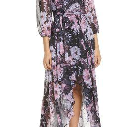 Floral Metallic Fleck High/Low Dress | Nordstrom