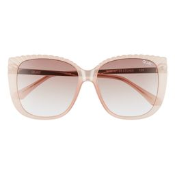 Ever After 58mm Gradient Etched Square Sunglasses | Nordstrom