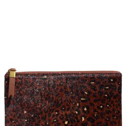 Madewell | The Leather Pouch Clutch: Painted Leopard Genuine Calf Hair Edition | Nordstrom Rack | Nordstrom Rack