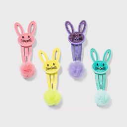 Girls' 4pk Easter Bunny Hair Clip Set - Cat & Jack™   Target
