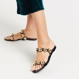 ASOS DESIGN Flex jelly sandals in black | ASOS (Global)