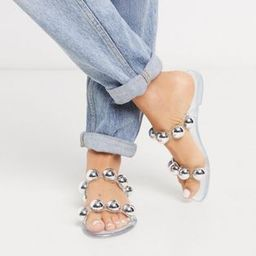 ASOS DESIGN Flex jelly sandals in clear | ASOS (Global)