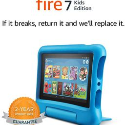 """Fire 7 Kids Edition Tablet, 7"""" Display, 16 GB, Blue Kid-Proof Case 