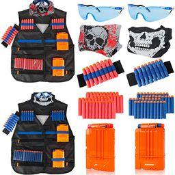 Little Valentine 2 Sets Kids Tactical Vest Kit for Nerf Guns N-Strike Elite Series , 2 Pack Tacti... | Amazon (US)