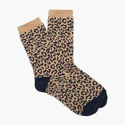 Two-tone leopard trouser socks   J.Crew Factory