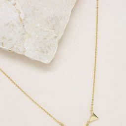 Three Point 18k Gold Plated Crystal Necklace | Ettika