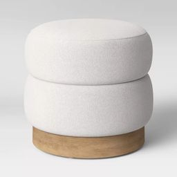 Channel Tufted Ottoman Cream Boucle - Opalhouse™ | Target