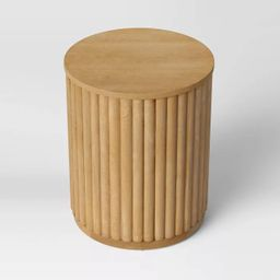 Wood Fluted Drum End Table Natural - Project 62™ | Target