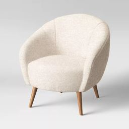 Odilia Rounded Sherpa Accent Chair Cream - Opalhouse™ | Target