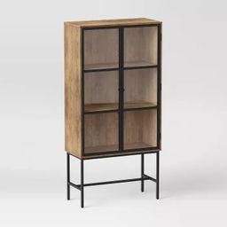 Glass Door Library Cabinet Brown - Project 62™ | Target