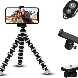 Phone Tripod for iPhone by TalkWorks - Mini Flexible Tripod Cell Phone Holder Adjustable Camera S...   Amazon (US)