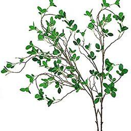 "Ollain 43"" Artificial Greenery Stems Plants Faux Leaf Green Eucalytus Branches Ficus Twig Fern Fa... | Amazon (US)"