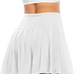 Pleated Tennis Skirts for Women with Pockets Shorts Athletic Golf Skorts Activewear Running Worko... | Amazon (US)