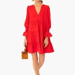 Red Kenzo Tiered Mini Dress   Tuckernuck (US)