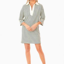 Green Stripe Ashton Knit Polo Dress   Pomander Place   Tuckernuck (US)