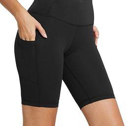 "BALEAF Women's 8"" /5"" High Waist Biker Shorts Yoga Workout Running Compression Exercise Shorts Si...   Amazon (US)"