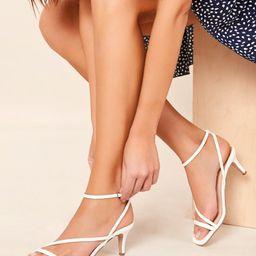 Open Toe Ankle Strap Kitten Heel Sandals | SHEIN