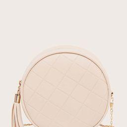 Tassel Decor Chain Circle Bag | SHEIN