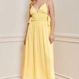 Sunny Season Yellow Sleeveless Side-Tie Midi Dress   Lulus (US)
