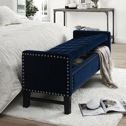 Tess Upholstered Flip Top Storage Bench   Wayfair North America