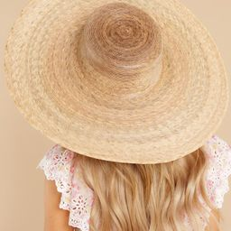 Ultra Wide Palma Natural Boater Hat | Red Dress